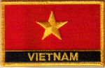 Vietnam Embroidered Flag Patch, style 09.